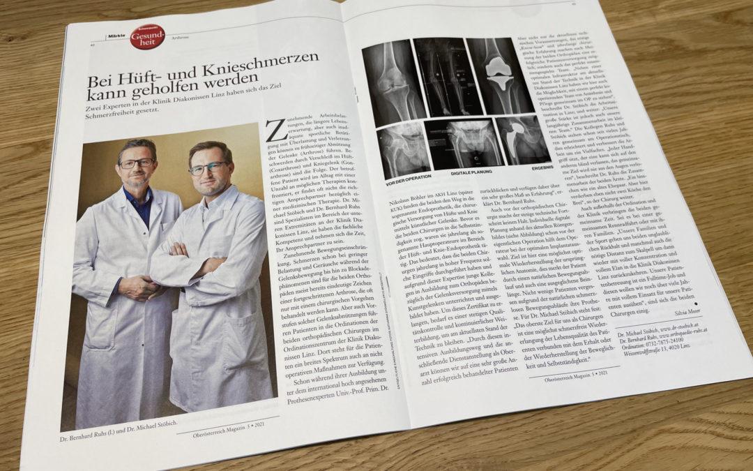 Artikel Hüftschmerzen & Knieschmerzen OÖ Magazin